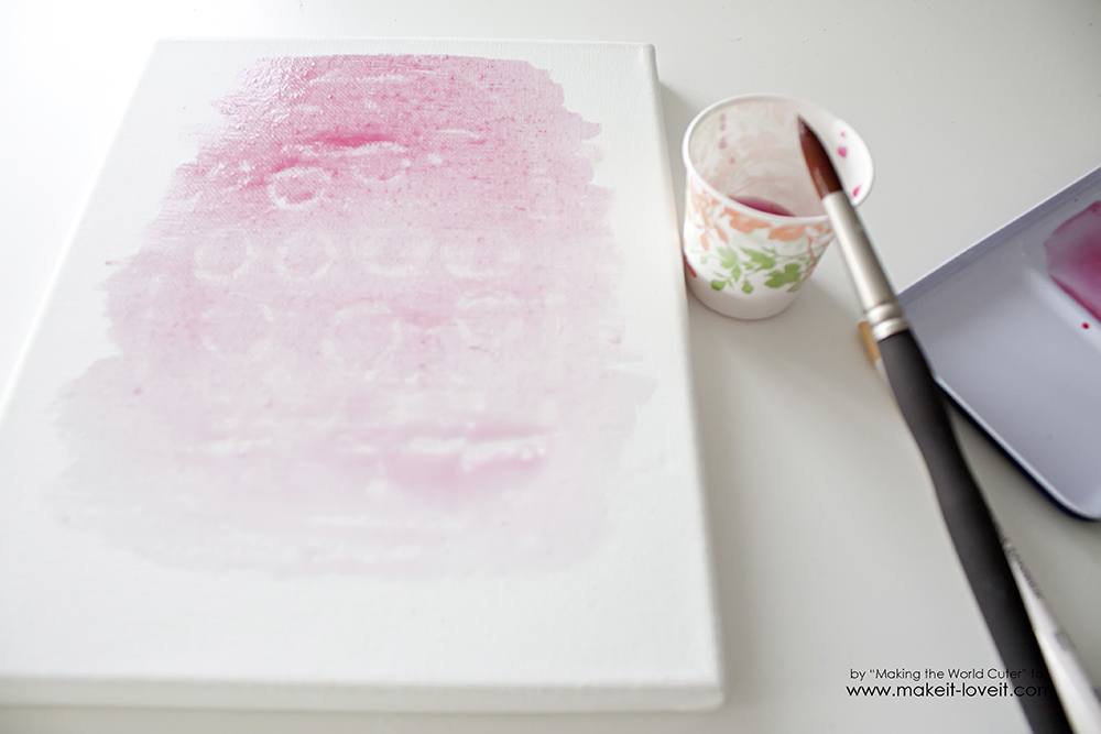 Watercolor resist easter egg canvases (8)