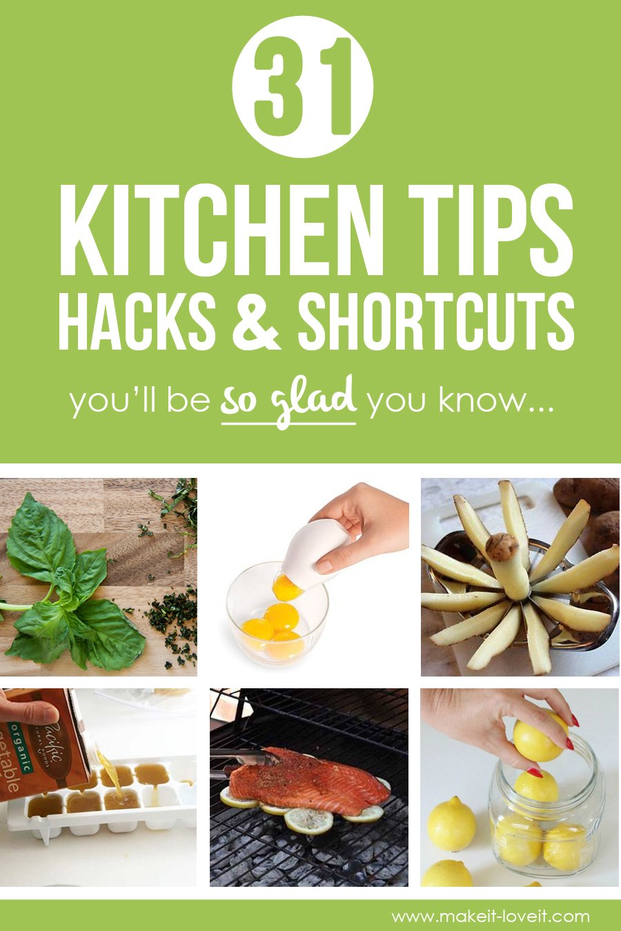 31 kitchen tips, hacks, & shortcuts you'll be so glad you know!