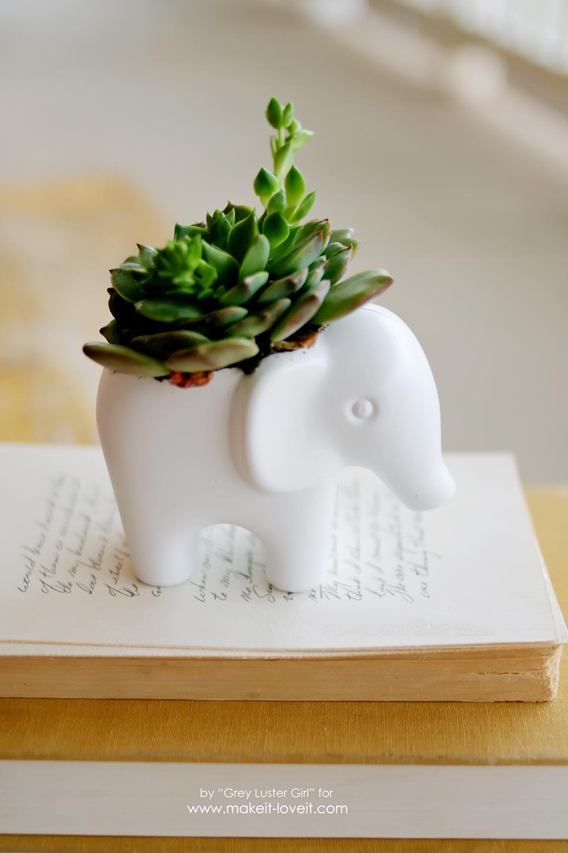 DIY Toy Elephant Succulent Planter (16)