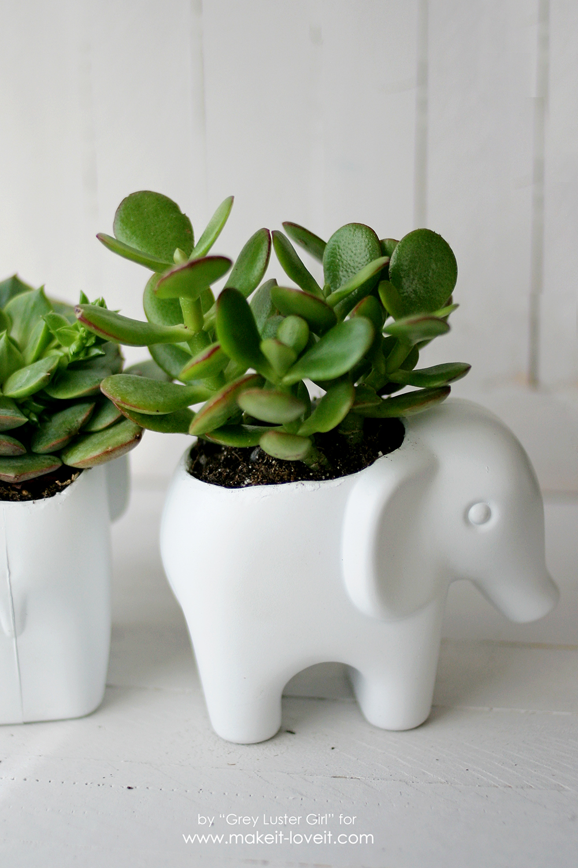 DIY Toy Elephant Succulent Planter (22)