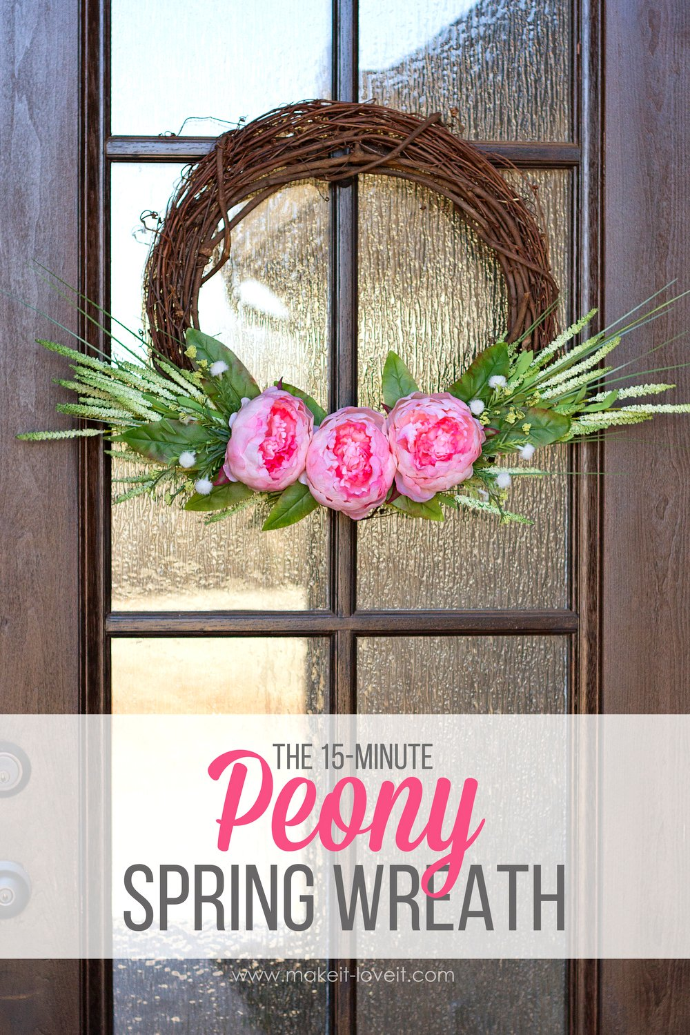 Make a {15-minute} peony spring wreath