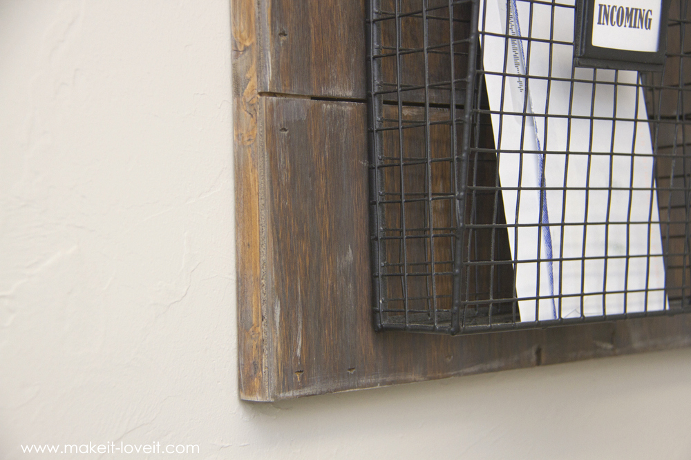 Wall Mounted Mail Organizer...from scrap wood!   via Make It and Love It