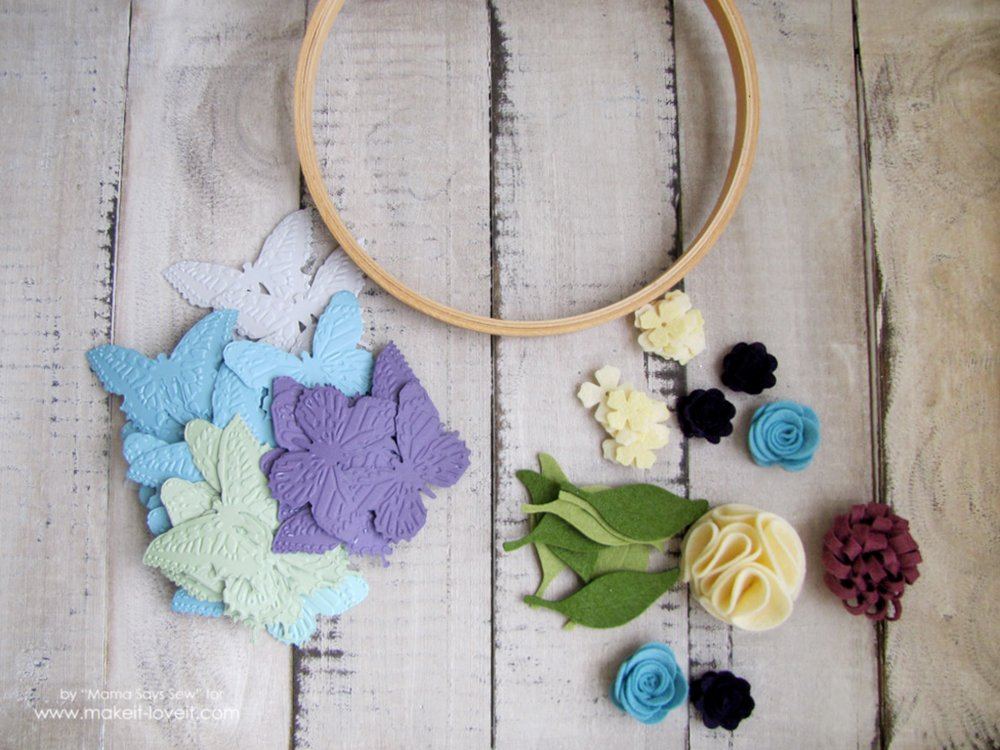 Make your own butterfly mobile or dreamcatcher (1)