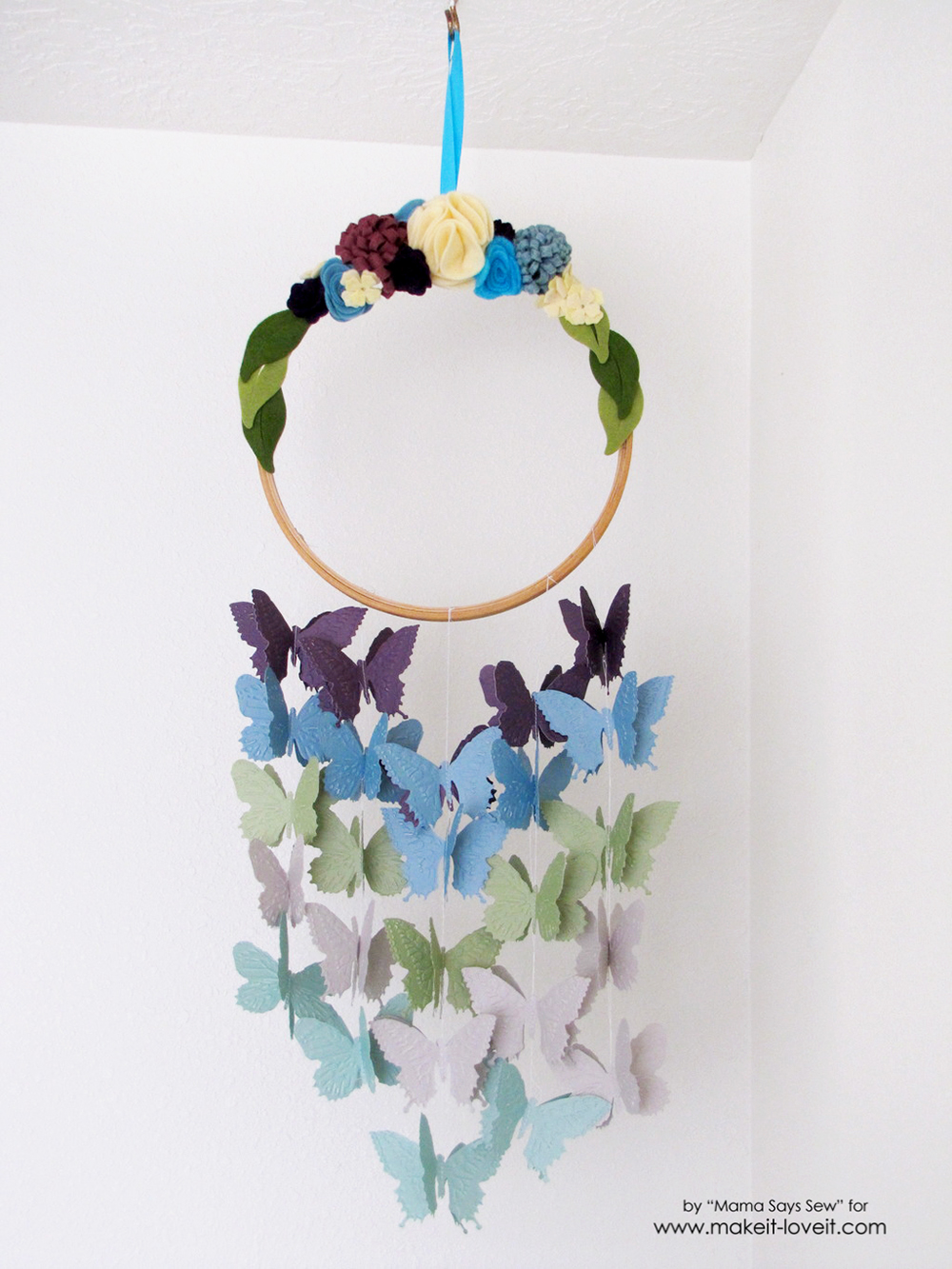 Make your own butterfly mobile or dreamcatcher (14)