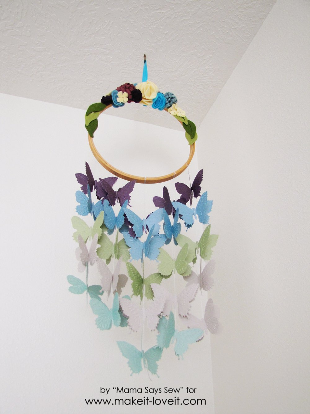 Make your own butterfly mobile or dreamcatcher (16)