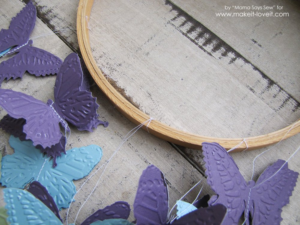 Make your own butterfly mobile or dreamcatcher (8)