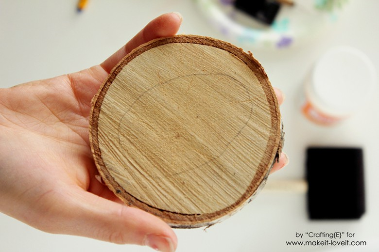 Wood Slice Easter Egg Coasters (1)