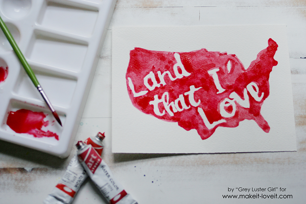 How to create EASY Watercolor Typography | via Make It and Love It