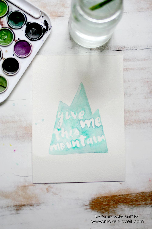 EASY watercolor typography (9)