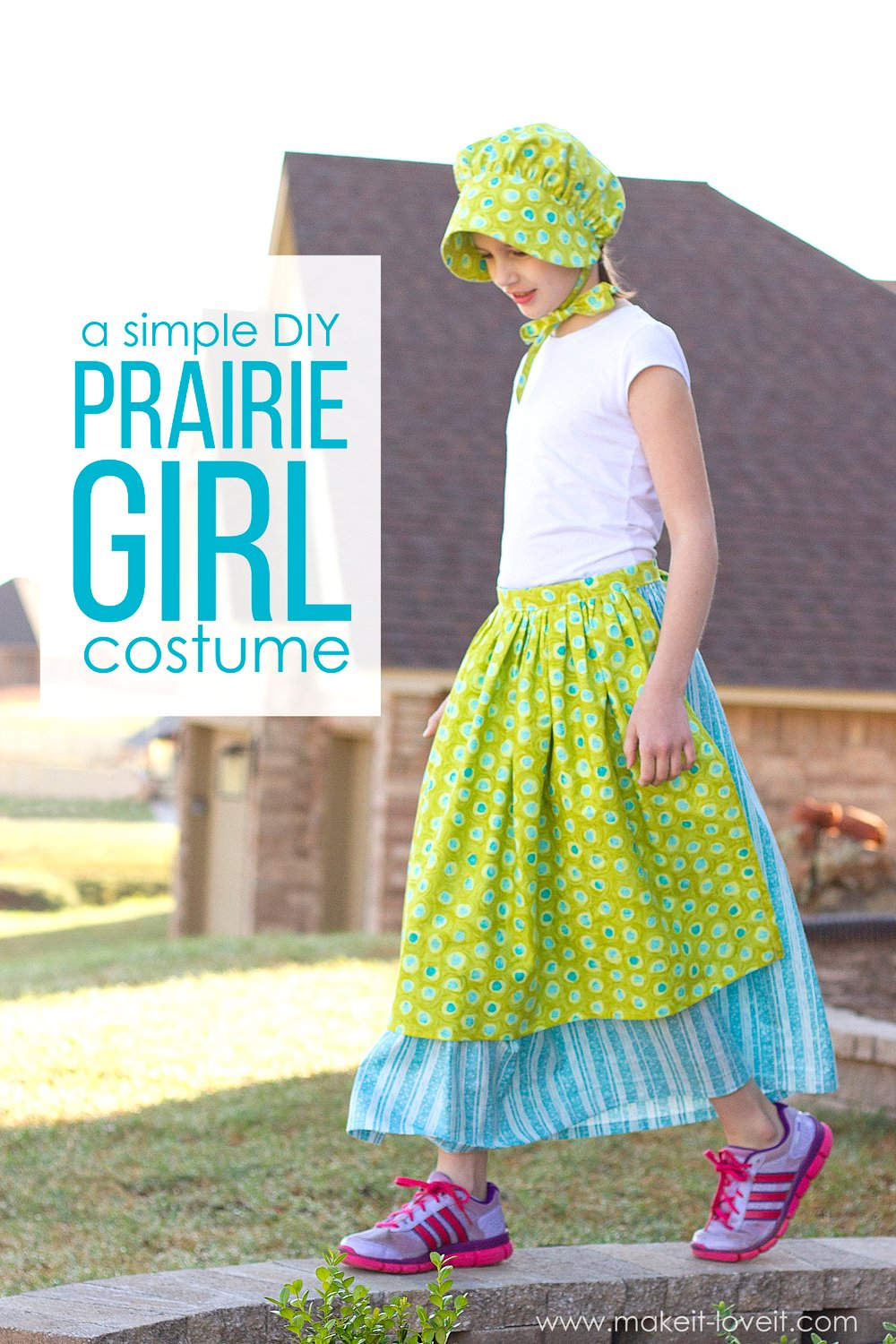 A simple diy prairie (or pioneer) girl costume