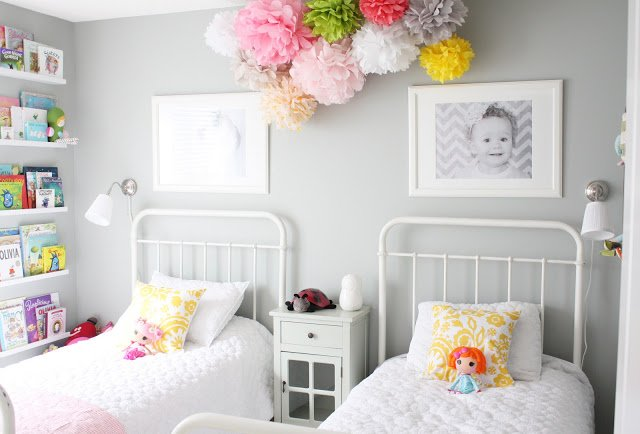 Mint And Pink Shared Girls Room Via Lay Baby Lay
