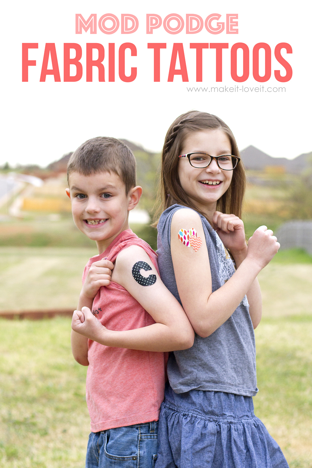 Mod podge fabric tattoos…easy on/off application! (edited: april fool's!!)