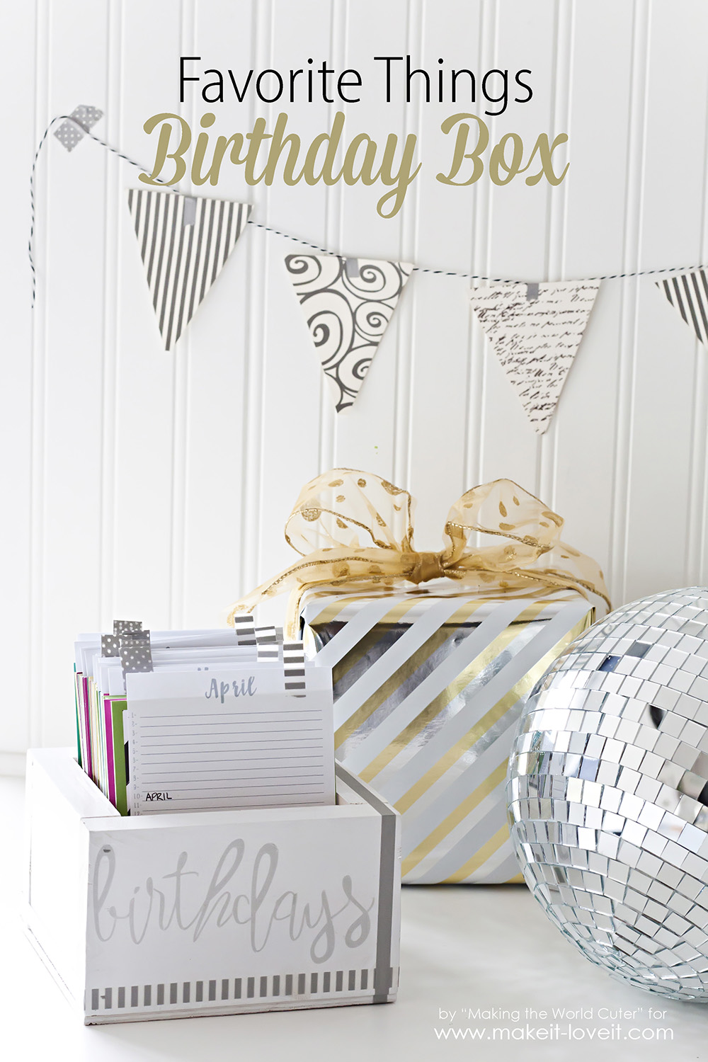 Birthday Reminder Box (…with FREE printable calendars!)