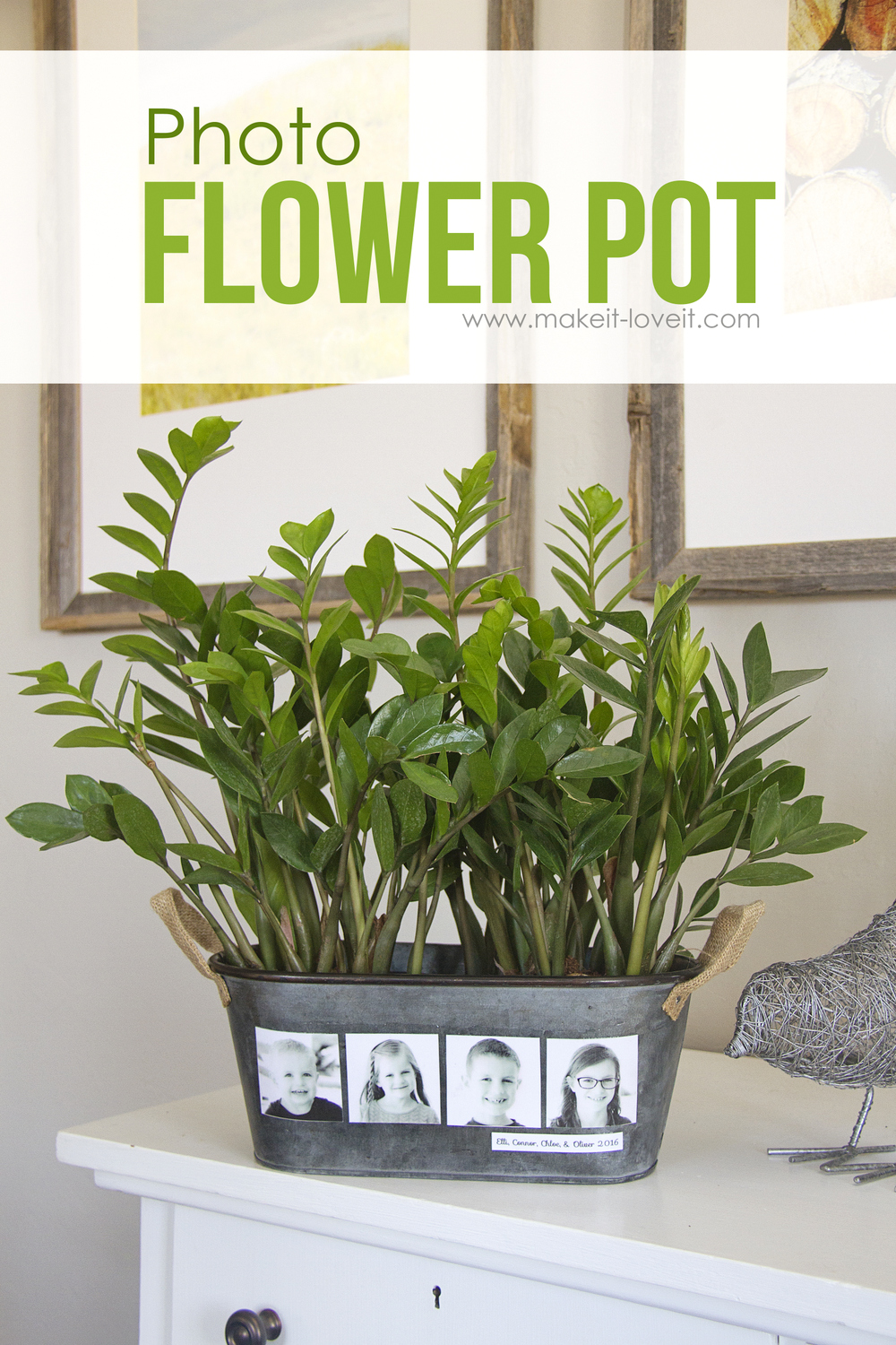 Diy photo flower pot (…fun for mother's day!)