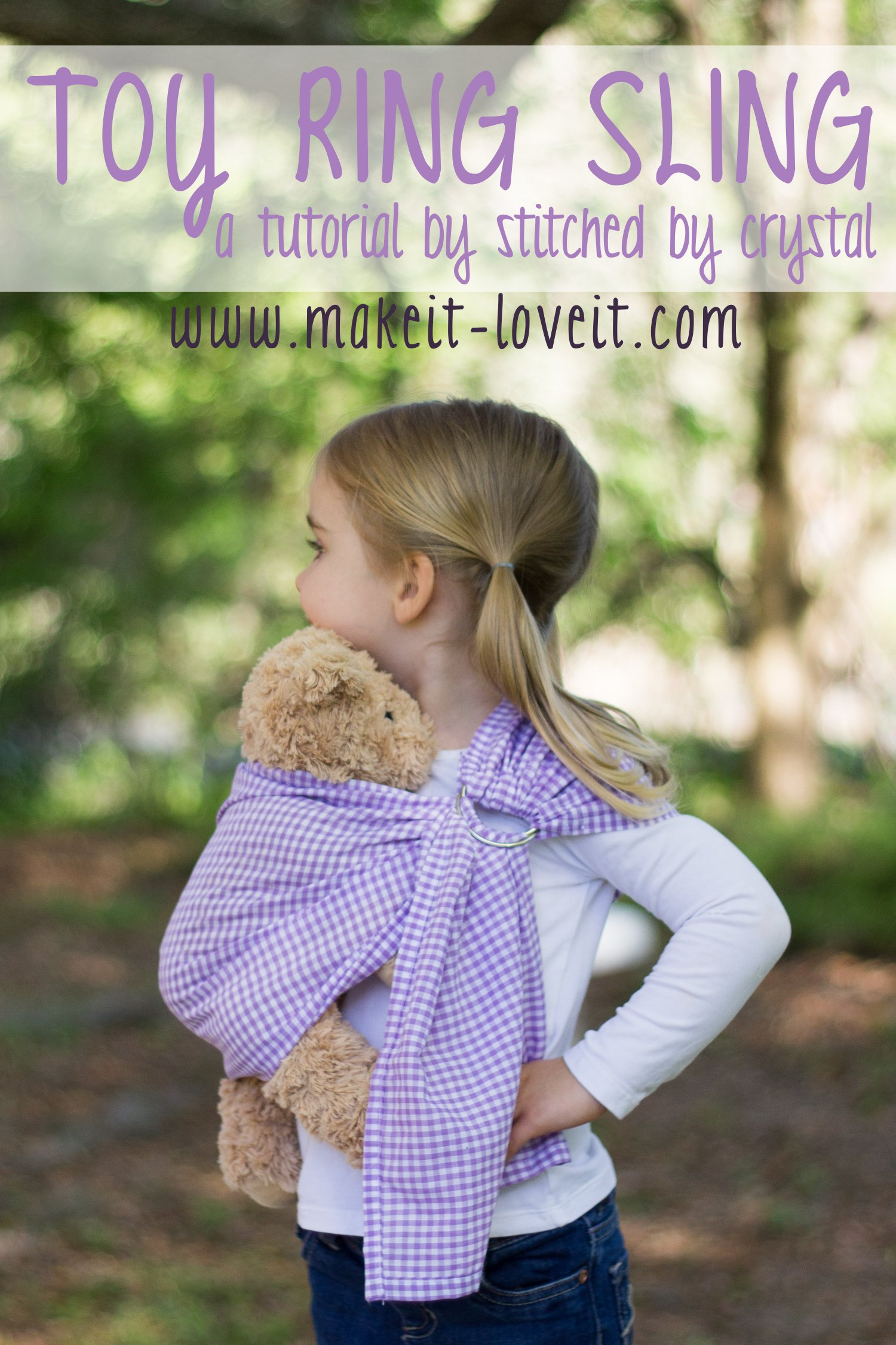 Doll Ring Sling Carrier Tutorial | via Make It and Love It