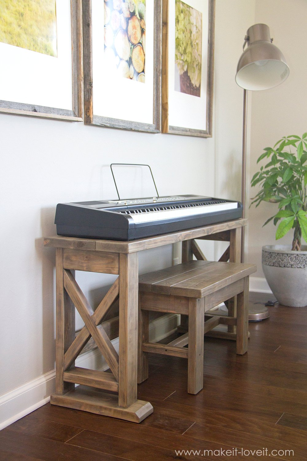 DIY Digital Piano Stand plus Bench (...a $25 project!!) | Make It ...