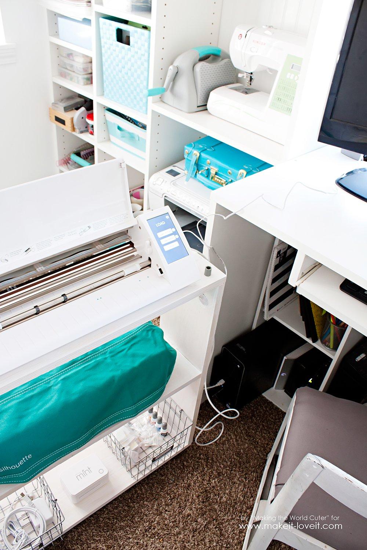 Easy DIY Craft Cart...Perfect Silhouette Storage! | via makeit-loveit.com