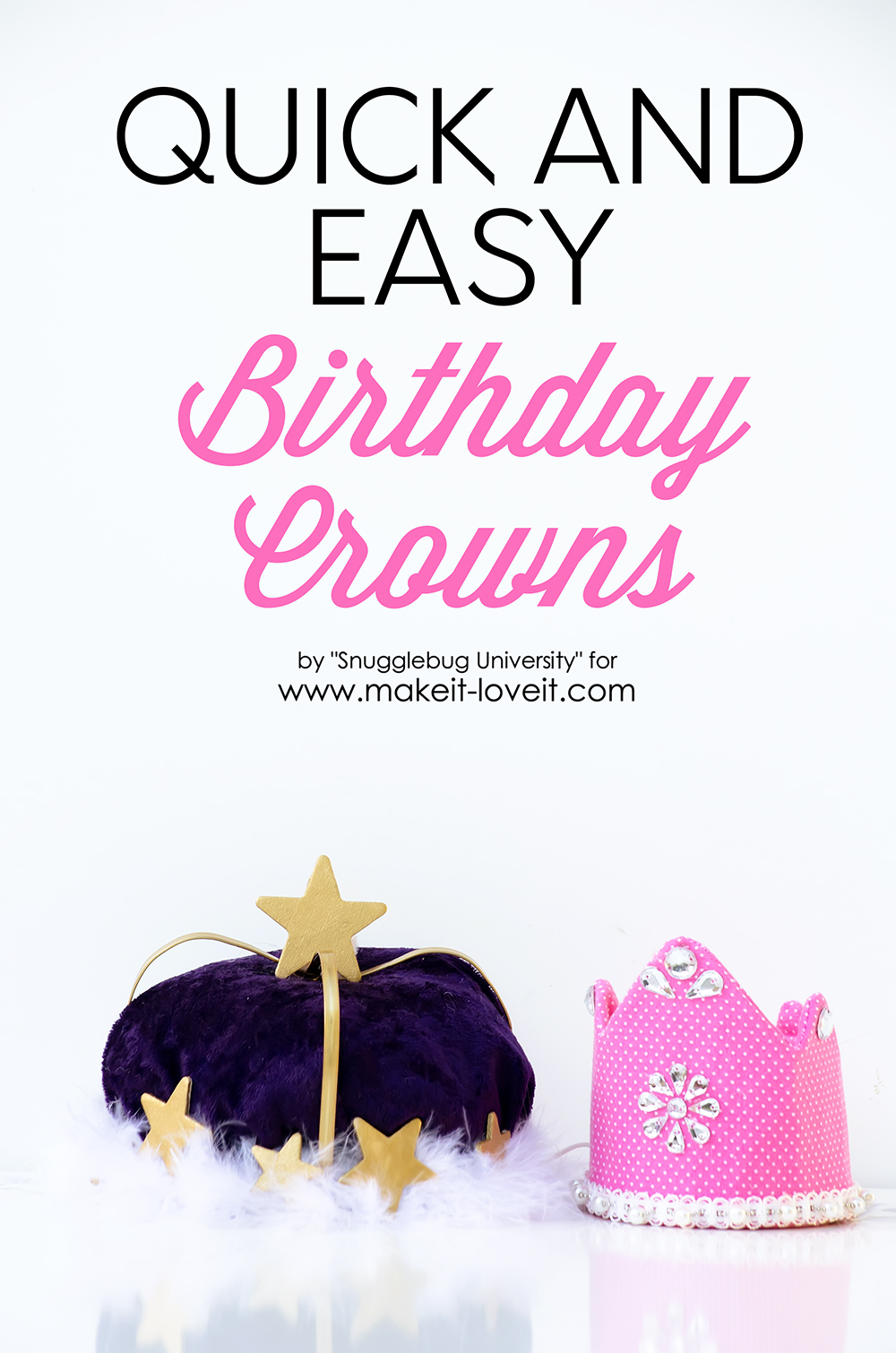 Quick and easy birthday crowns from embroidery hoops 1