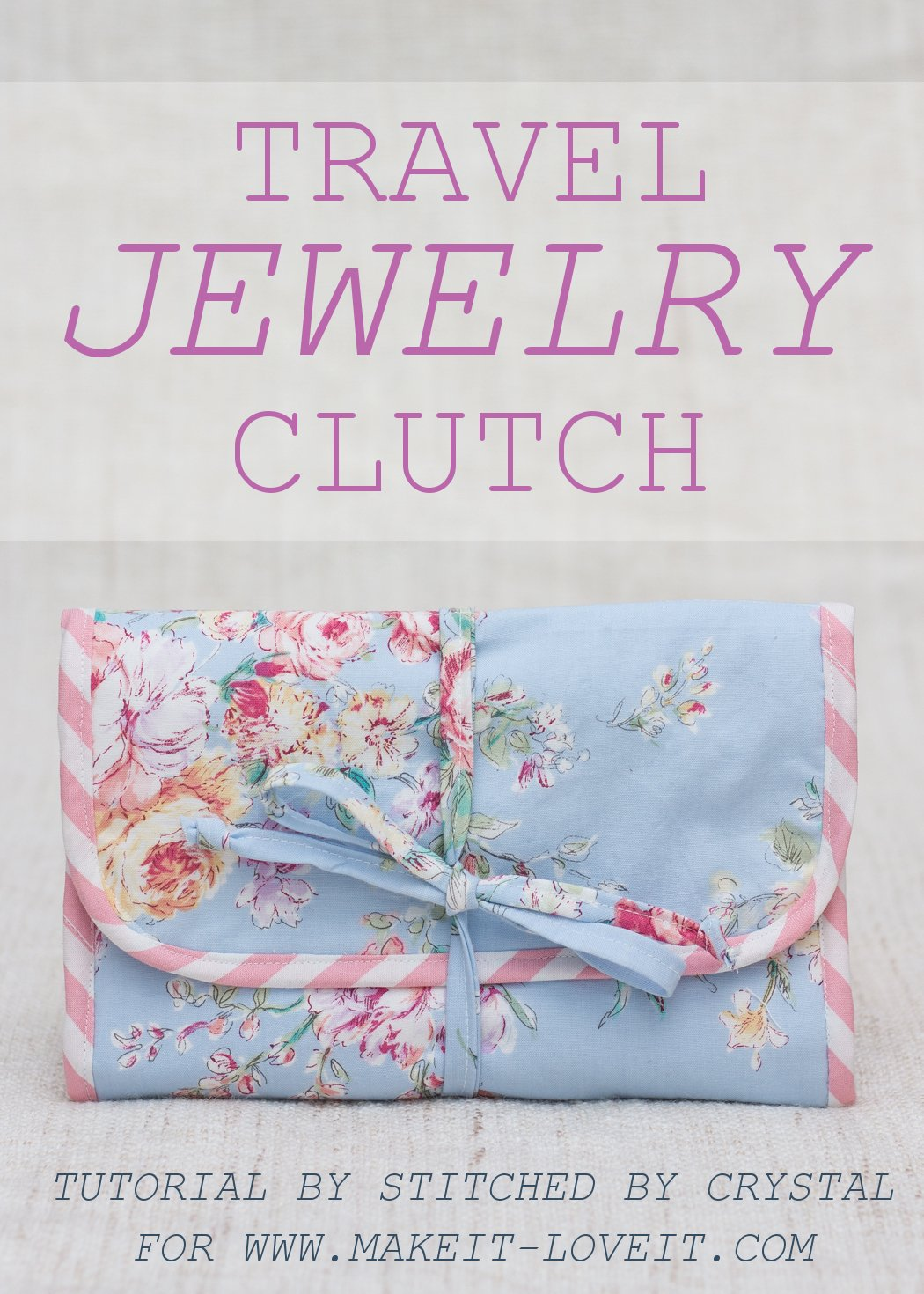 Travel jewelry clutch tutorial