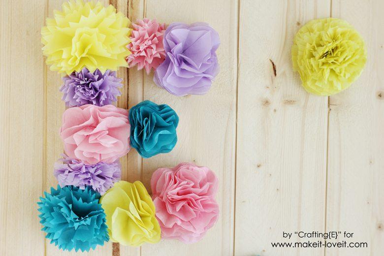 How To Make Tissue Paper Flower Letters | via makeit-loveit.com