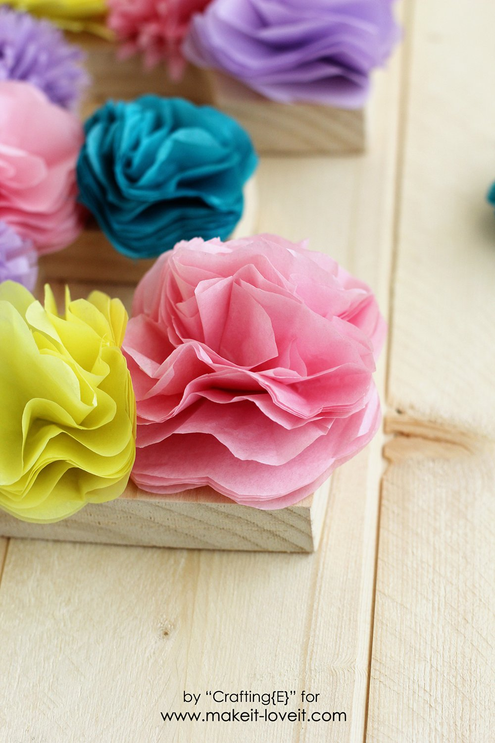 Tissue Paper Flower Letters Make It And Love It