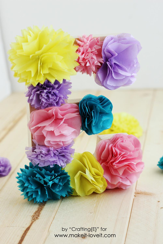 Tissue paper flower letters 18