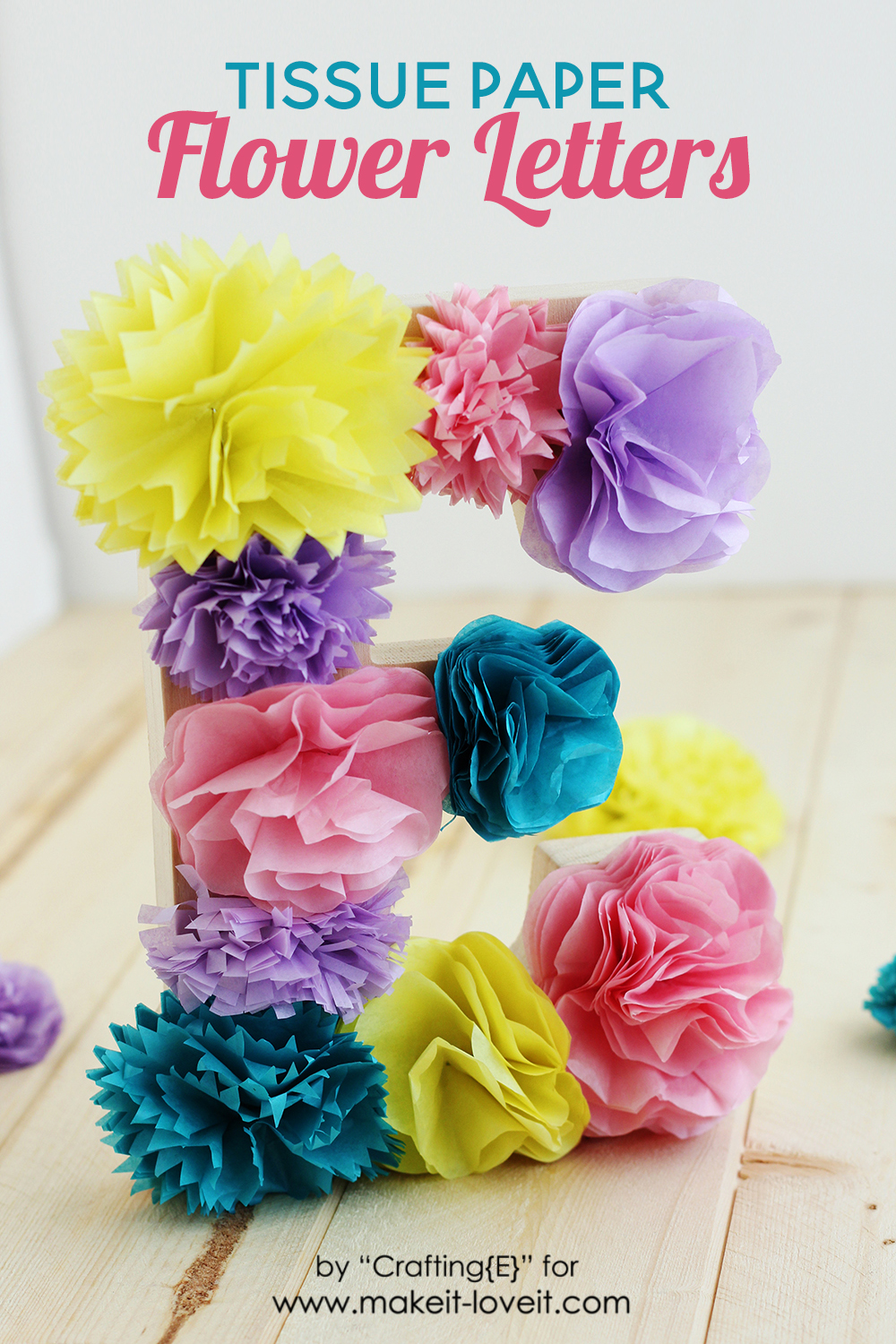 Tissue paper flower letters make it and love it tissue paper flower letters mightylinksfo