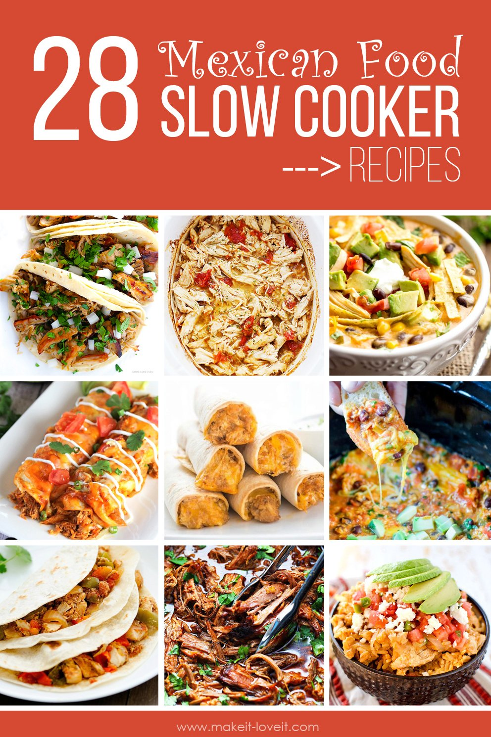 28 Favorite Mexican Food SLOW COOKER Recipes