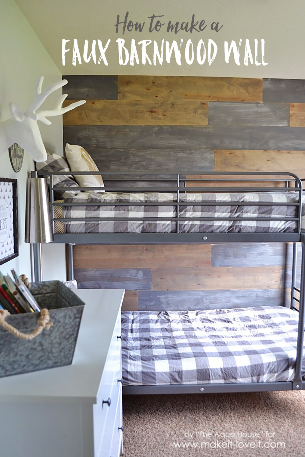 How to Make a Faux Barn Wood Wall
