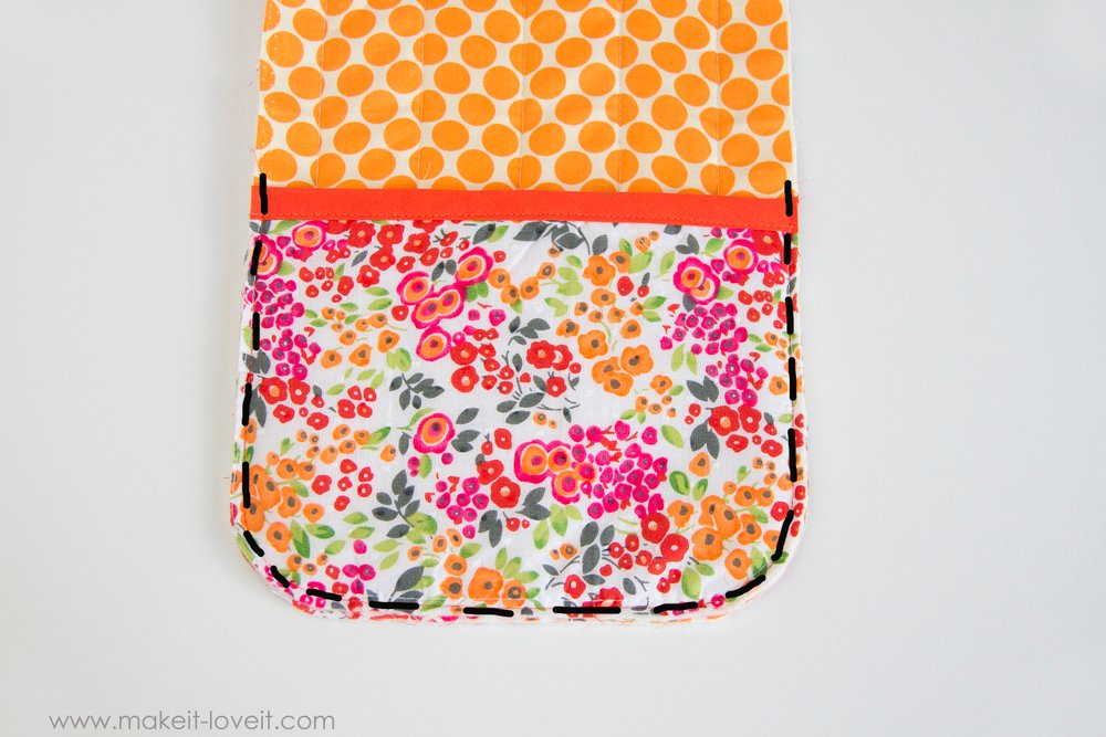 How to make a Double Pot Holder with Hand Pockets 15