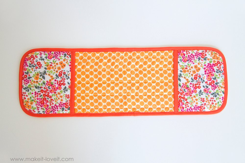 How to make a Double Pot Holder with Hand Pockets 17
