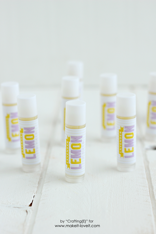 Make your own Lavender Lemon Lip Balm | via makeit-loveit.com