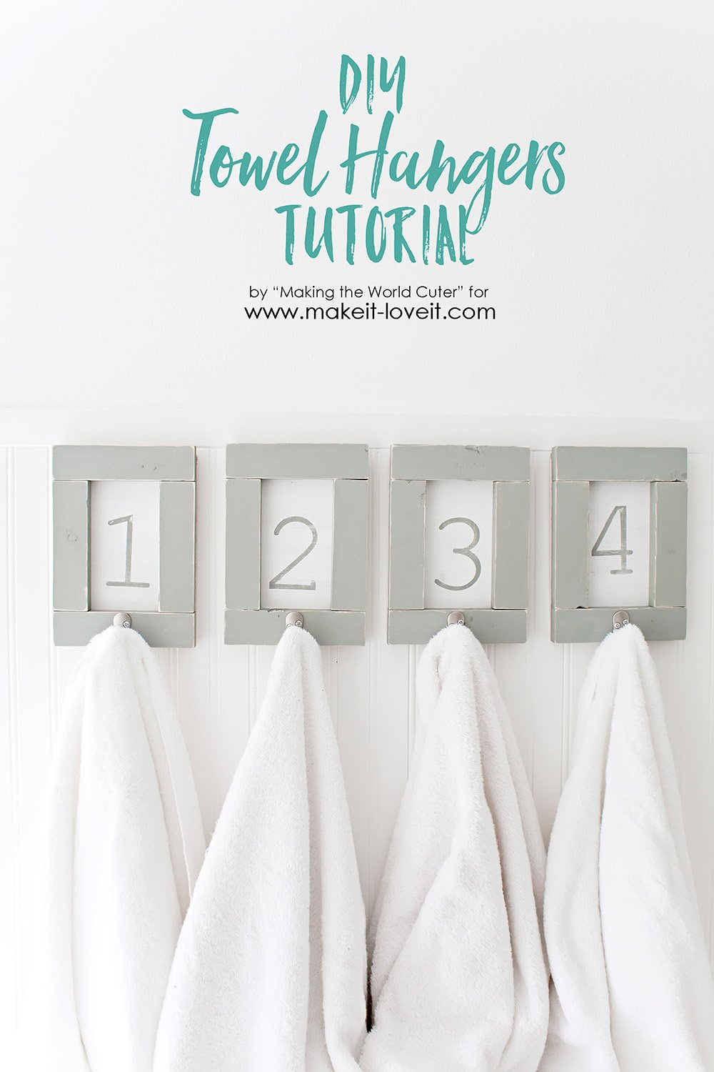Diy towel hangers tutorial