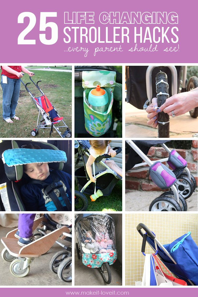 25 Life-Changing Stroller Hacks…EVERY parent should see! – Make It