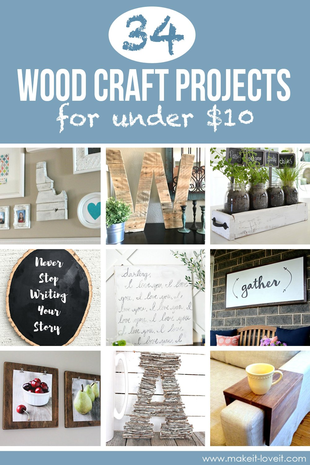 34 Wood Craft Projects For Under 10