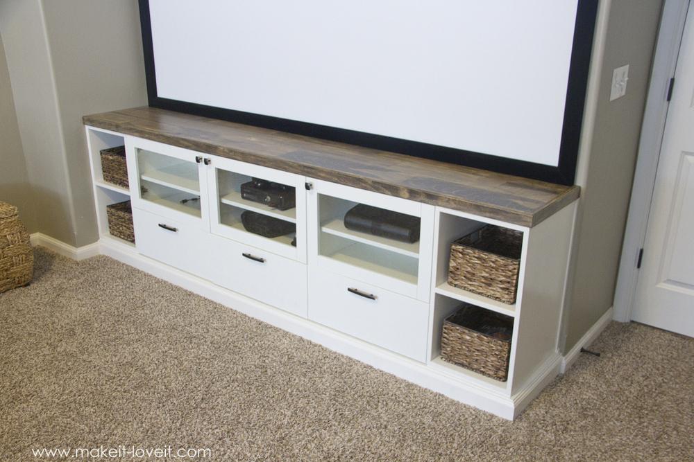 How To Turn Ikea Bookshelves Into Custom Built Ins | Via Www.makeit