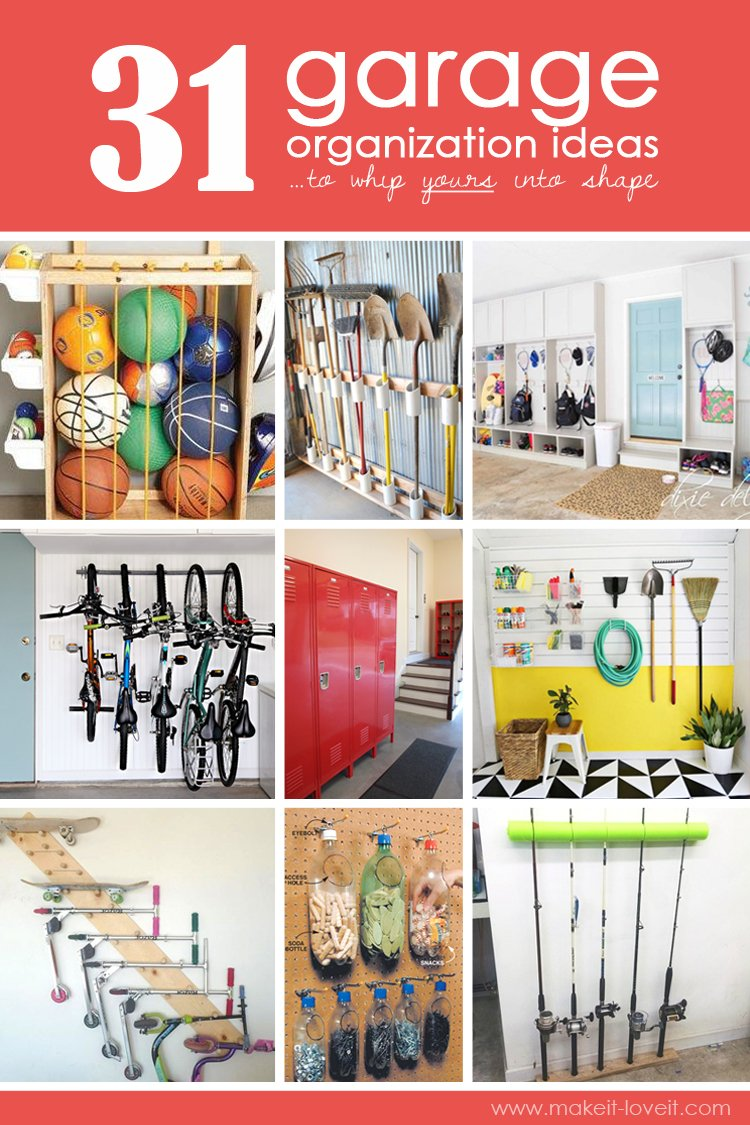 31 Garage Organization Ideas...to whip yours into SHAPE!! | via makeit-loveit.com