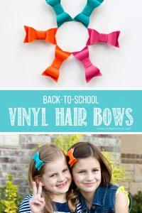 DIY Vinyl Hair Bows...for BACK-TO-SCHOOL!! | via makeit-loveit.com