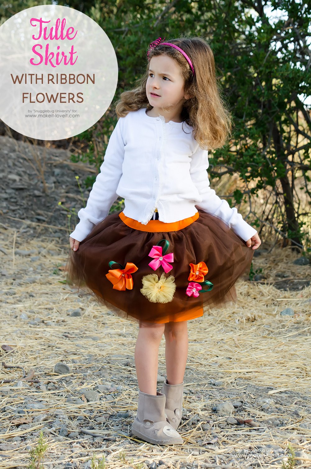 af9b161a277b Tulle Skirt with Ribbon Flowers – Make It and Love It
