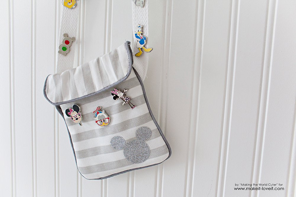 Simple Disney Vacation Purse Tutorial....for trading pins, cell phone, and fast pass holder! | via www.ashley1.mystagingwebsite.com