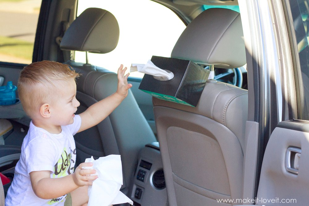 10 minute diy hanging tissue box holder for the car make it and