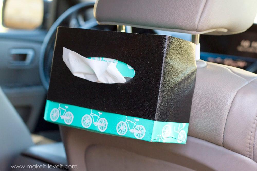 10-Minute DIY: Hanging Tissue Box Holder...for the CAR!! | via ashley1.mystagingwebsite.com