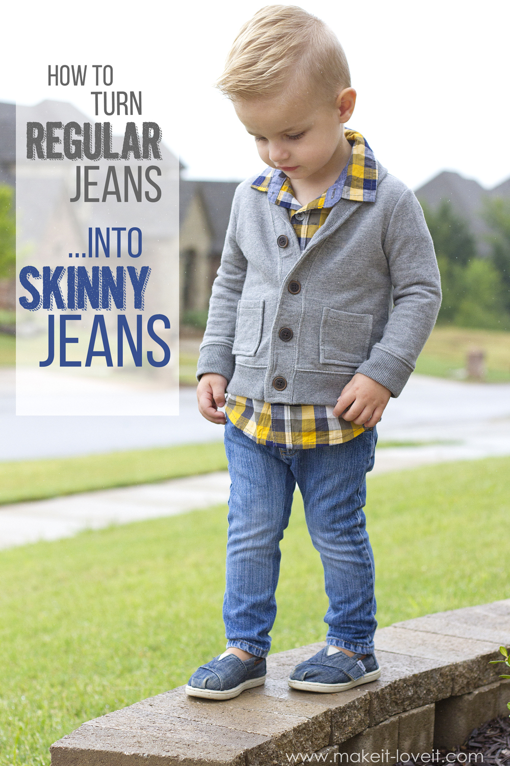 How to turn REGULAR Jeans…into SKINNY Jeans!