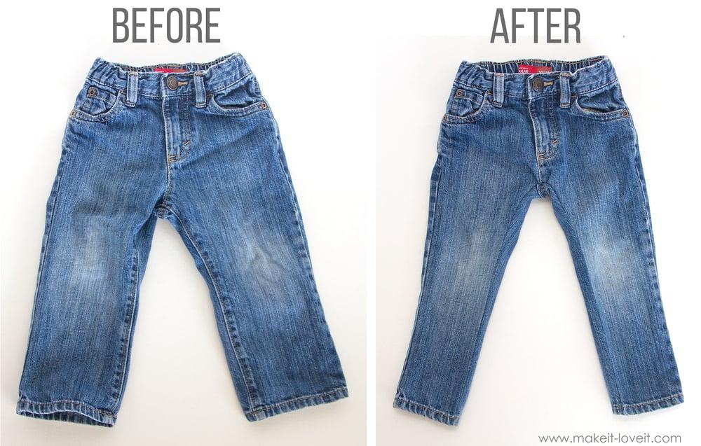 How to turn REGULAR Jeans...into SKINNY Jeans! | via makeit-loveit.com