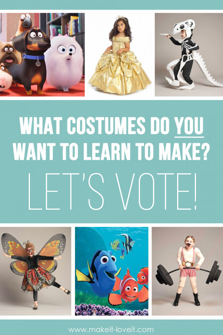 Time to vote….on the top halloween costume tutorial requests!!