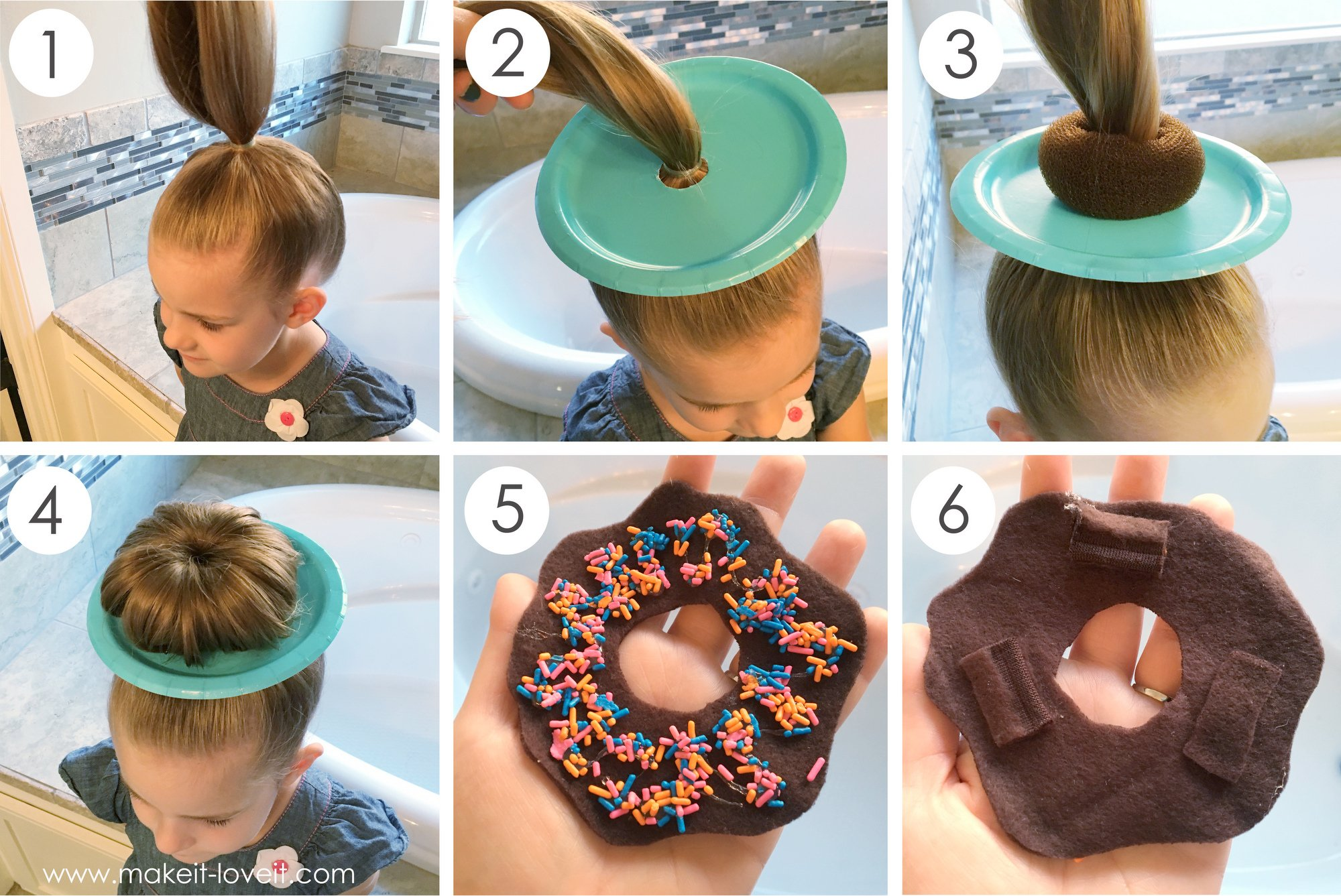 Как сделать пончики из волос