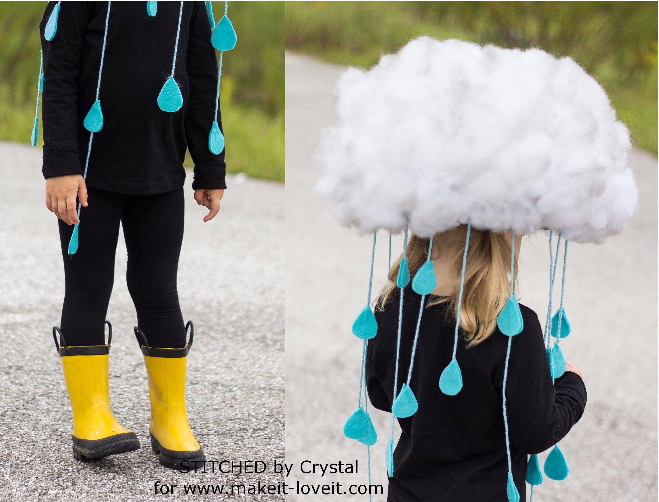 Make a quick & easy RAIN CLOUD COSTUME...for all ages! | via www.makeit-loveit.com