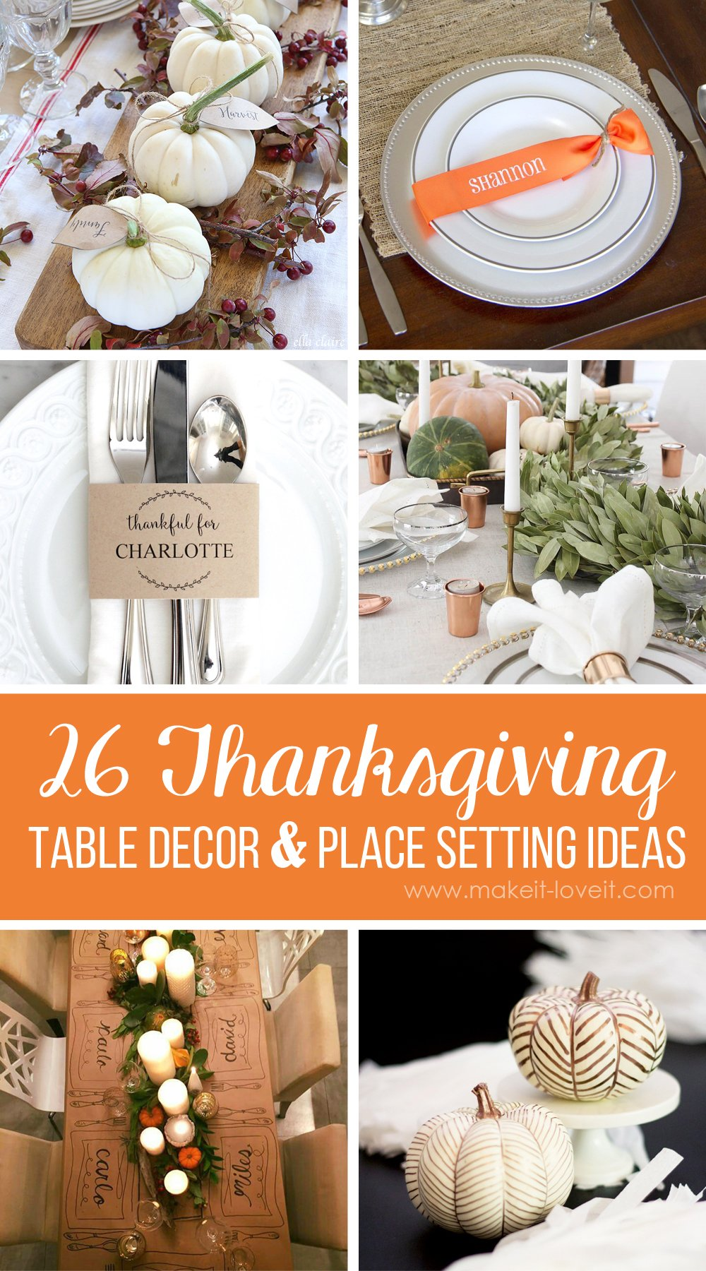 26 Lovely Thanksgiving Table Decor and Place Setting Ideas
