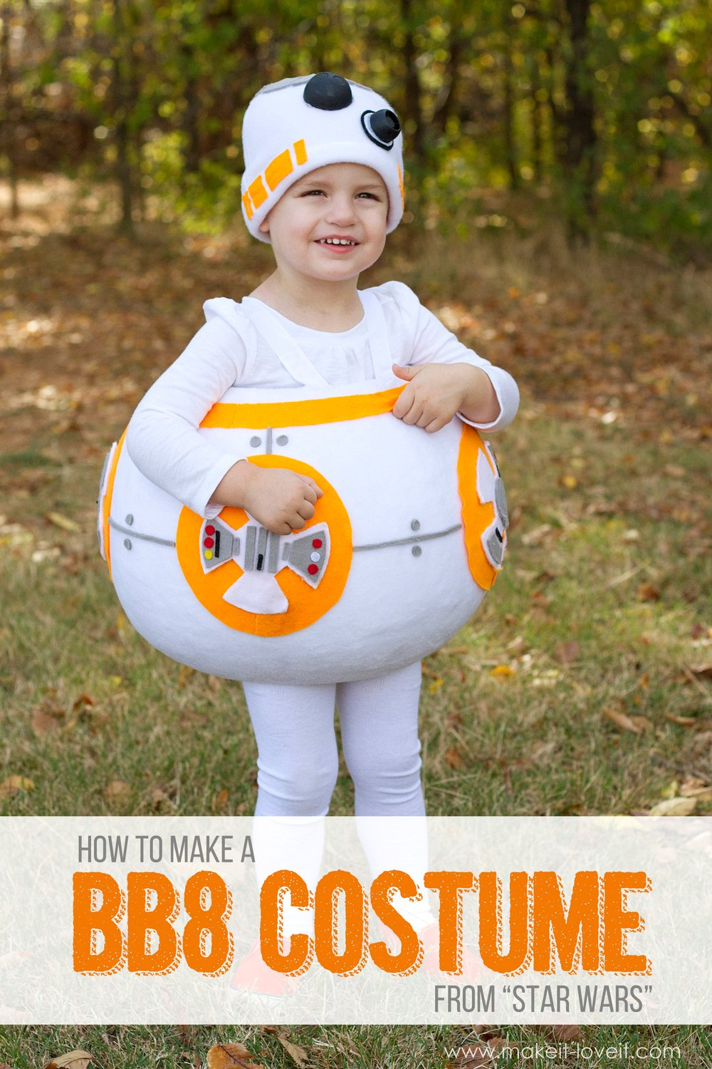 "How to make a ""bb8"" star wars costume!"