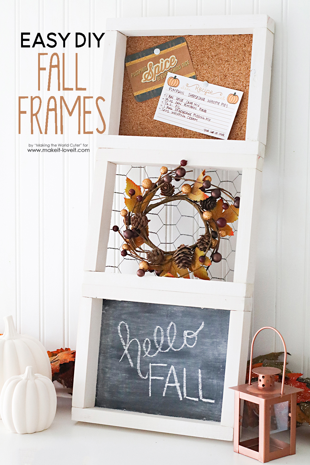 Easy diy fall frames